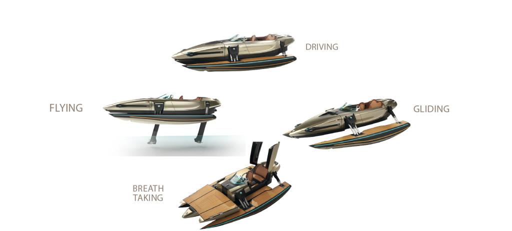 barca da crociera con foil