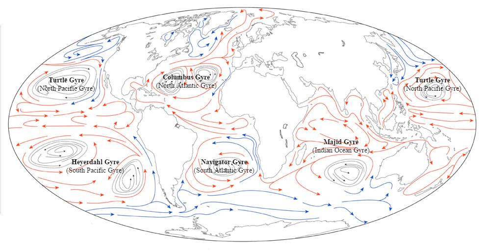 vortici oceanici plastica galleggiante